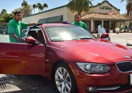 cathedral-city-car-wash-workers-with-bmw