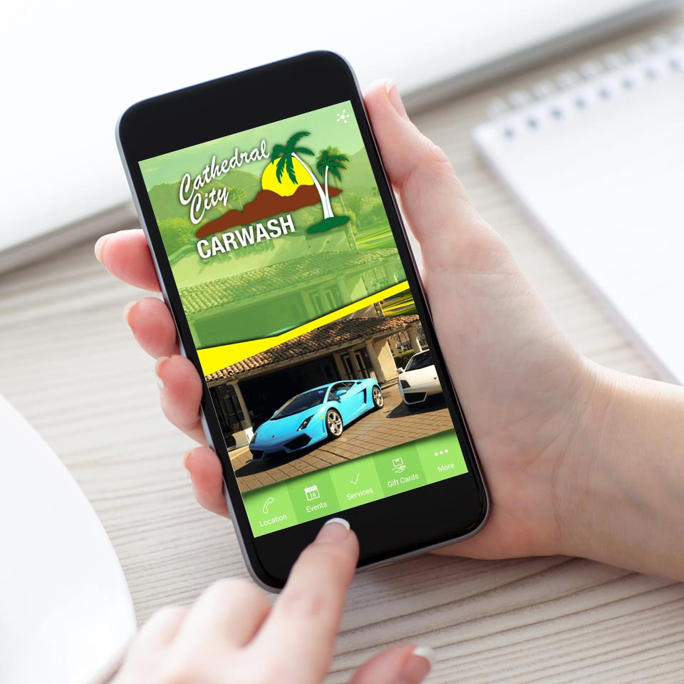Download the Cathedral City Car Wash Loyalty App
